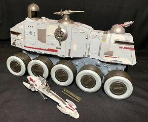 Star-Wars-Clone-Wars-Turbo-Tank-Juggernaut-Vehicle-Hasbro-w-Missiles-amp-Speeder