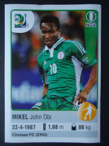 Panini 227 Mikel John Obi Nigeria Confed Cup 2013 Brasilien