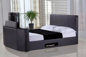 Tv In Bed : New tv bed queen size with tv lift ebay