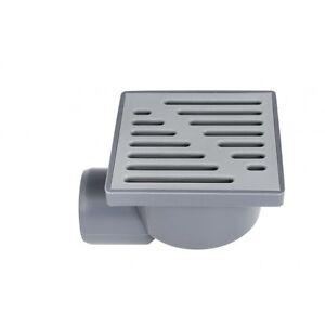 plastique-gris-Drain-de-sol-Piege-150mm-x-150mm-50mm-cote-tuyau-connexion
