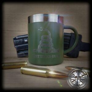 DOPPIA-parete-isolata-in-acciaio-Inox-Nato-Verde-Caffe-Te-Tazza-con-manico