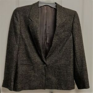 Yorkstreet-Wool-Blazer-Size-6-Brown-Twill