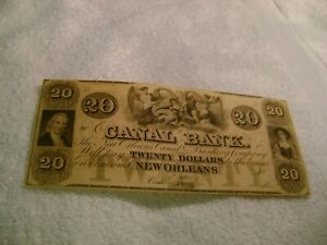 1800-039-s-20-Canal-Bank-New-Orleans-Louisiana-Obsolete-CURRENCY-UNCIRCULATE