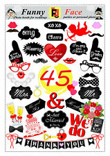 45 DIY wedding, engagement, decoration party photo booth props pdf download