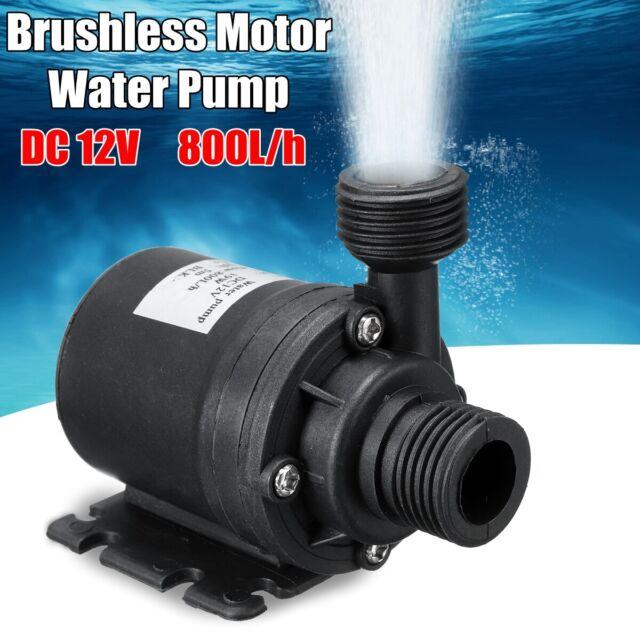 Quiet DC12V 600L//H 5M Submersible Brushless Motor Water Circulation Cool Pump