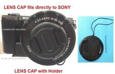 LENS CAP DIRECTLY to CAMERA SONY Alpha NEX-6 NEX6 /with your 16-50mm lens+HOLDER