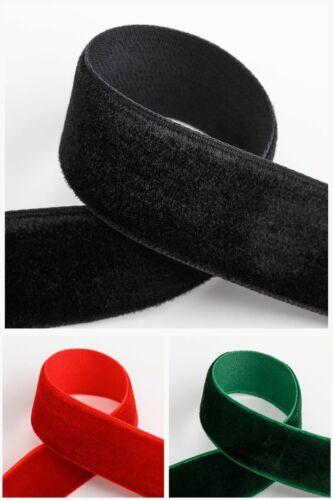 10m 9mm or 18mm Velvet Ribbon 1m Red Black Bottle Green 3 Colours