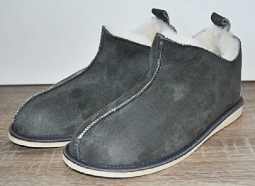 naturale piede in di lana pecora Pantofole pelle a in merinos pelle Stivali wH8S5qIv