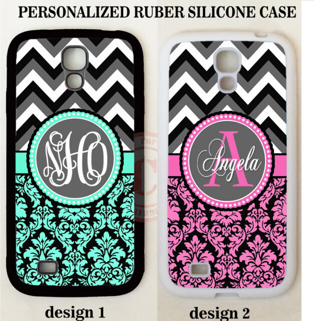 BLACK PINK TEAL DAMASK GREY CHEVRON MONOGRAM Case For Samsung Galaxy S7 S6 NOTE
