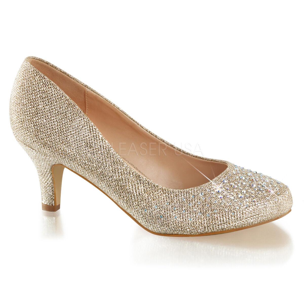 2  gold Low Heels Junior Bridesmaid Flower Girl Vintage Wedding shoes size 6 7 8