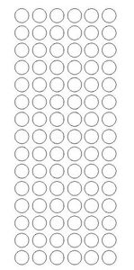 """WHITE 1/"""" Round Stickers Color Code Inventory Label Dot Stickers Package Seals"""
