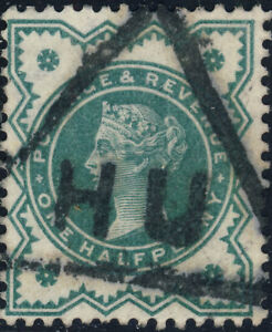 GB-ca-1900-034-HULL-034-Triangular-Cancel-HU-on-QV-1-2d-blue-green-SG-213