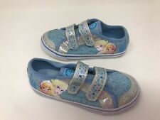 Disney Frozen Toddler Girls Athletic Sneakers Silver//Blue//White Szs 5,6,7/&8 New
