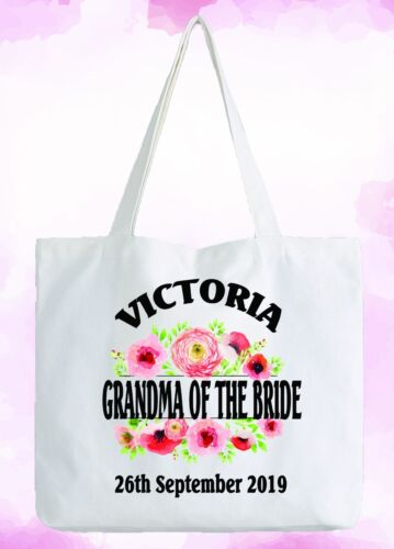 Mother Of The Groom Personalised White Tote Bag Wedding Gift Add Name /& Date