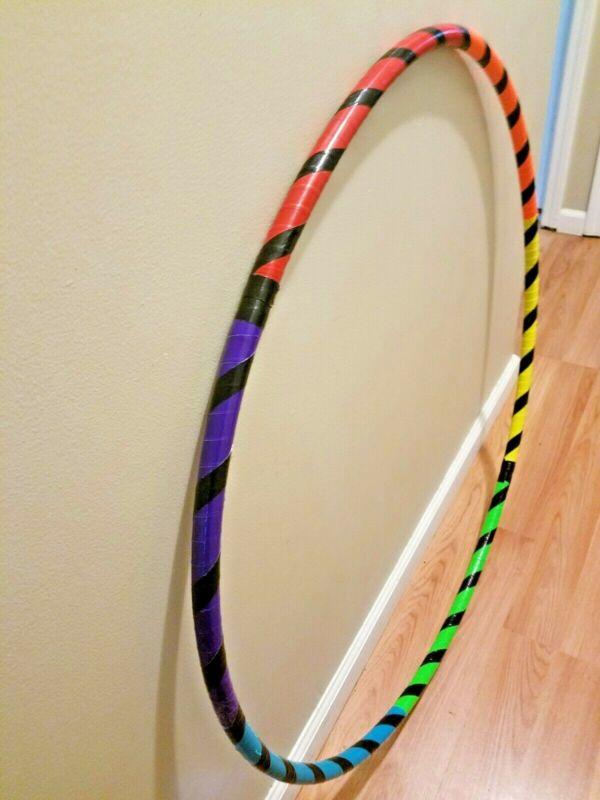 Rainbow Colors Custom Dance Hoop infinity collapsible fitness hula hoop