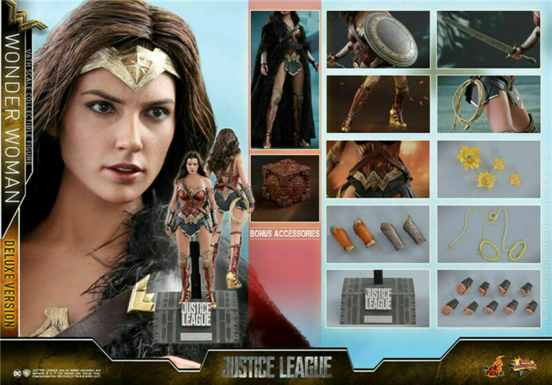 Hot Toys 1 6 Wonder Woman Female Figure Model Gal Gadot HT MMS451 Deluxe Toy Gif