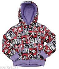 Paul Frank Comic Strip Hoodie Zip Front Hoodie Sweatshirt Size 4T NWT