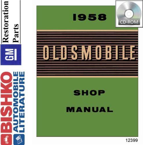 1958 Oldsmobile Shop Service Repair Manual CD Engine Drivetrain Wiring OEM