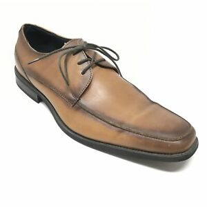 Men-039-s-Via-Spiga-Ponce-Oxfords-Dress-Shoe-Size-9-5D-Brown-Distressed-Leather-AA13