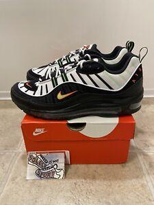 Nike-Air-Max-98-Highlighter-Black-Green-Leather-640744-015-Vapormax-Plus-Mens