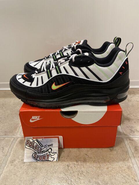 Nike Air Max 98 Highlighter Men's Size 9 Platinum Tint Black 640744 015
