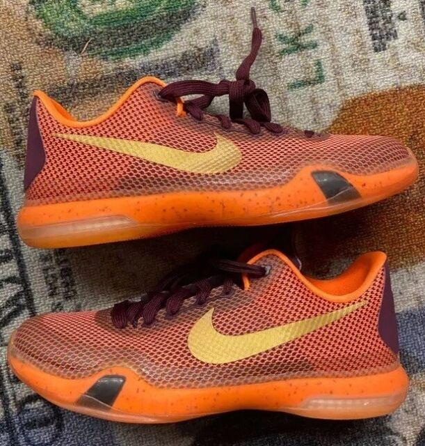 bastante baratas nuevo baratas disfruta del mejor precio Nike Kobe X GS 10 Silk Road Orange Gold Youth Kids Basketball ...