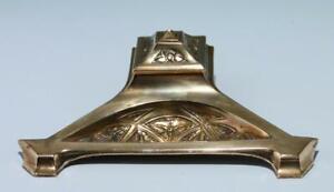 Art Nouveau Encrier En Laiton Moulé - Um 1900 #met779
