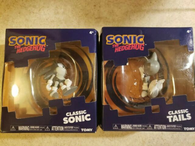 Sonic the Hedgehog Classic Sonic and Tails Translucent Figures Set Open Box
