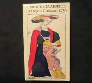 RARE-Tarot-of-Marseilles-Tarot-Deck-Francois-Chosson-1736-Ltd-Numbered-Ed-OOP