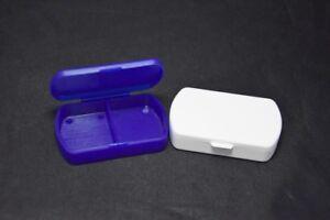 2,Pillenboxen,2 Fächer,Pillendose,Tablettendose,Tablettenbox,Pillenspender,Pille
