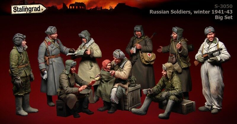 1 35 Scale Stalingrad S-3050 Russian Soldiers Winter High Quality Resin Kit