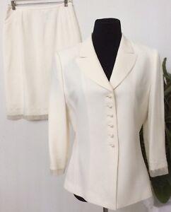 Cream 2 l Skirt Euc A s Sz Suit Poliestere Women's Piece Career Cream Blend Tahari 10 FEXzqTF