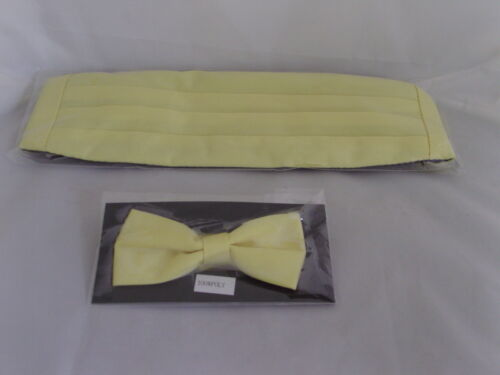 Any Page Boy-Wedding-Children Polyester Bow tie /& Cummerbund With//Without Hankie