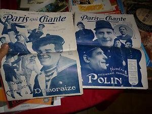 Paris-Qui-Chante-Dumoraize-amp-Polin-1909-Partition-Parole-et-Musique