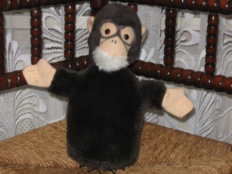 Hermann Germany Monkey Plush Hand Puppet 26CM