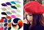 Women-Sweet-Solid-Warm-Wool-Winter-Beret-French-Artist-Beanie-Hat-Ski-Cap-Hat-so miniature 3