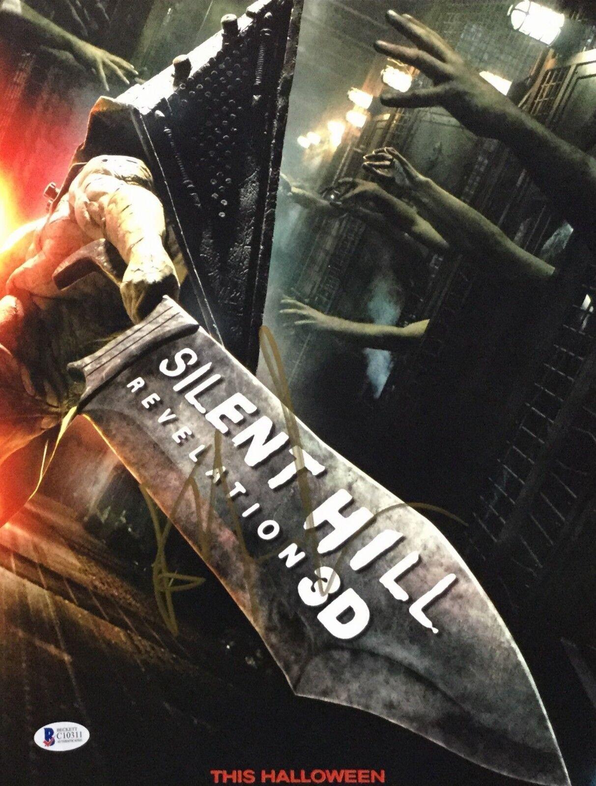 Kit Harrington Signed 'Silent Hill 11x14 Photo Beckett C10311