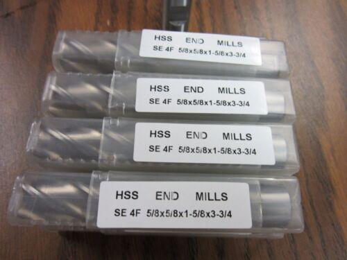 "10pcs 5//8/"" 4 Flute S//E Premium M2 HSS end mills,center-cutting#1009G-New"