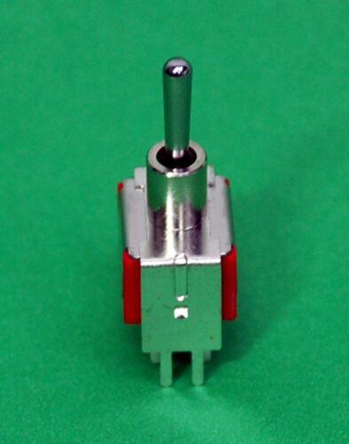 5pc Miniature Toggle Switch 1MD3T1B4VS2QES On//Off//On 6P DPDT 2A250V V-Bracket