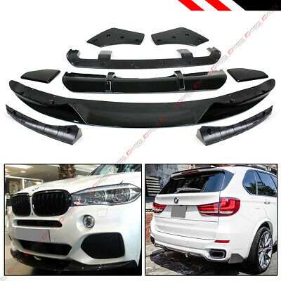 For 15-18 BMW X5 F15 M Sport MP Style Gloss Blk Front Rear Full Body Aero Kit