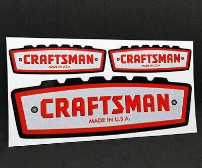 Vinyl STICKERS CRAFTSMAN TOOLS x 3 Vintage Style DECALS