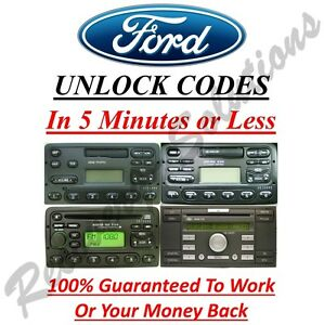 Ford Radio Unlock Code M & V Serial - Escort - Fiesta - Focus - Mondeo - Transit