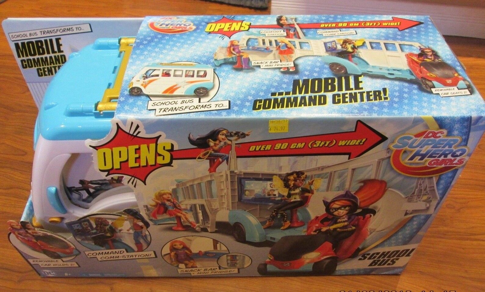 DC Super Hero Girls School Bus Mobile Command Center Vehicle