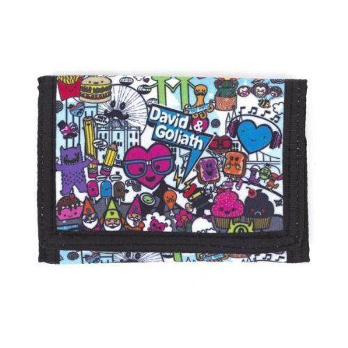 Childrens Wallet David /& Goliath Multi-Colured Canvas Tri-Fold Wallet
