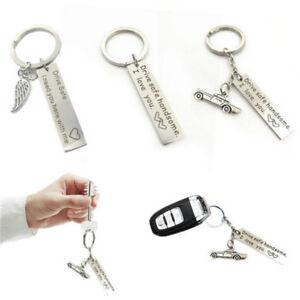 Drive-Safe-Keychain-Couples-Boyfriend-Girlfriend-Car-Keyring-Dad-Fathers-Jewelry