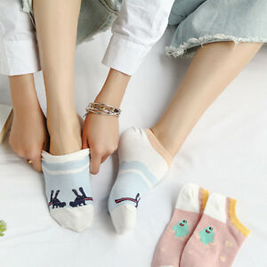 2-Pairs-Fashion-Comfortable-Cotton-Boat-Socks-Short-Sock-Lady-Girls-Ankle-Socks