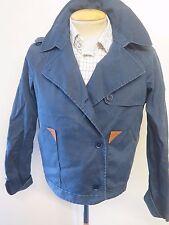 Lacoste Ladies Short Peplum Cotton Jacket UK 12 Euro 40 - Blue