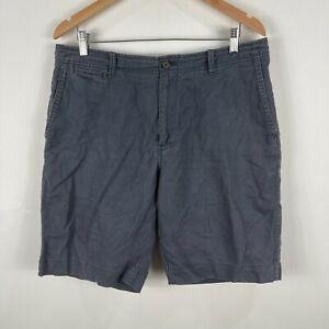 Gazman-Mens-Shorts-36-Grey-Linen-Blend-Pockets