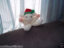 LAMBCHOP PLUSH HAND PUPPET COLLECTIBLE SHARI LEWIS AVON CHRISTMAS HAT