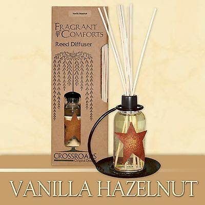 Vanilla Hazelnut Scented Reed Diffuser Crossroads Original Designs New NIP